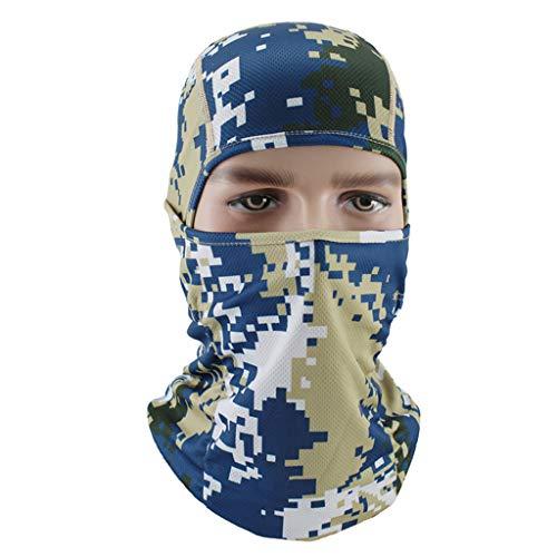 Iuhan Hooded Fishing Full Face Sun Mask Headwear Camo Head Wrap Neck Gaiter Scarf Tube Mask Bandana Mask Balaclava Sport Hair Bands Guys Headband for Running Hiking Cycling Motorcycling Riding ()