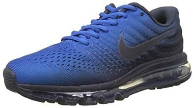Nike Men's Air Max 2017 Sneaker, Obsidian/Signal Blue 400, 7.5 UK