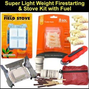 Tinder Quik Spark Lite Fire Starter Refills Camping Survival Emergency Kits
