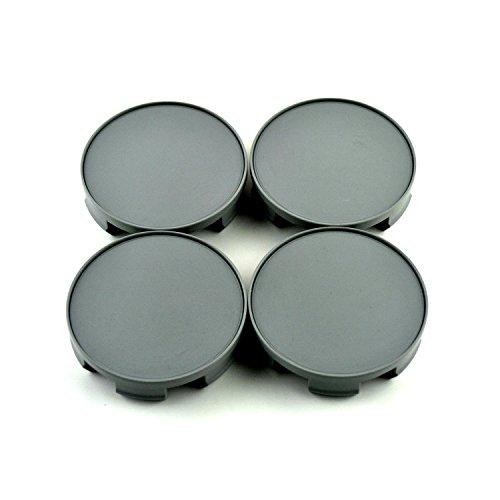 58mm Gray ABS Car Wheel Center Hub Caps Base Set of 4 for Civic