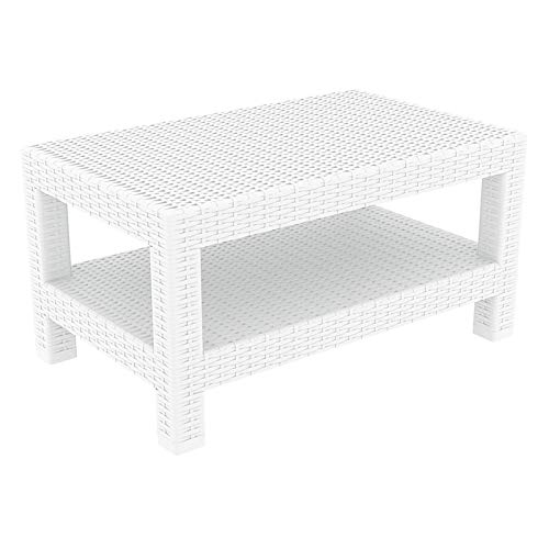 (Compamia Monaco Rectangle Coffee Table 22-Inch, White)