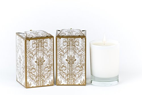 Ergo Soy Candle Pearl Collection - Gold Rosemary 10oz Candle In Glass