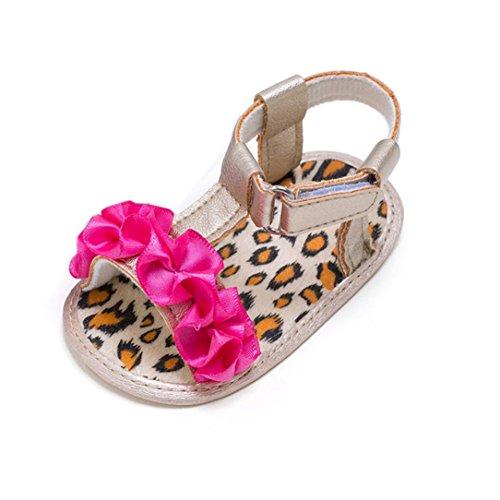 Clode® Sommer Baby Mädchen Krippe schuhe Blumen Anti Rutsch Baby Turnschuhe Sandalen Hot Pink