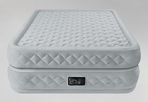 Intex Supreme Air-Flow Airbed with Built-in Electric Pump, Queen