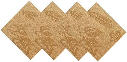 Napkins Swirls On Dark Brown Cotton Set of 6