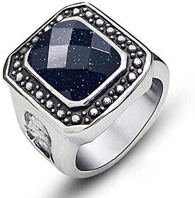 LAMUCH Men Women 8MM Wide Domineering Tungsten Steel Couple Ring