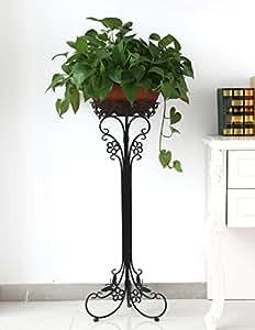LB Pastoral flor de hierro de rack simple de gastar unos pocos estantes de estilo europeo de alto grado Bonsai marco balcón maceta pared de hierro Flor estantes Estantería para macetas ( Tamaño : A1-32*75cm )
