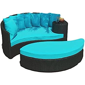 Amazon.com: Exterior Sofá tumbona reclinable Patio sofá ...
