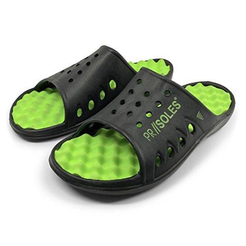 Für eine RUN PR Soles Recovery Sandalen gegangen  Schwarz / Neongrün