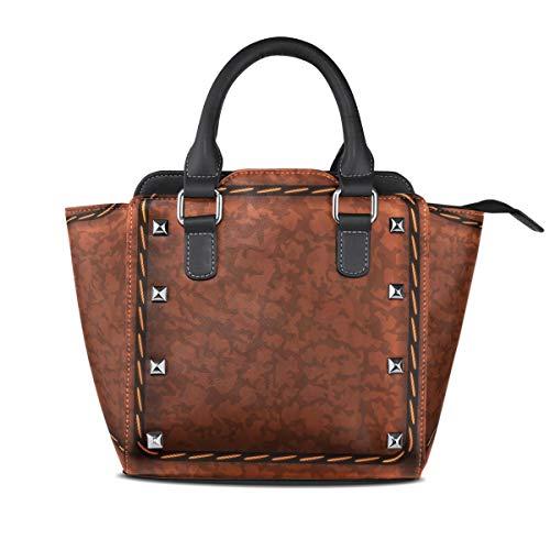 FANTAZIO coach handbags Coffee Leather Cushion Pattern for party/Shopping