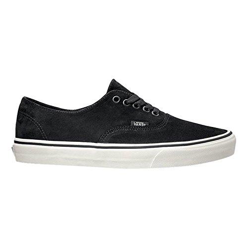 Vans Authentic Decon Womens 8 / Mens 6.5 Pig Suede Black Blanc De Blanc Fashion Sneaker (Vans Authentic Suede)