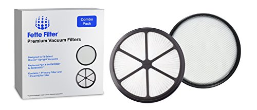 Fette Filter - Vacuum Filter Set Compatible with Hoover UH72400, UH72400, UH72401, UH72402, UH72405, UH72406, UH72409. Compare to Part # 440003905 & 303903001. 1 Primary Filter and 1 HEPA Filter