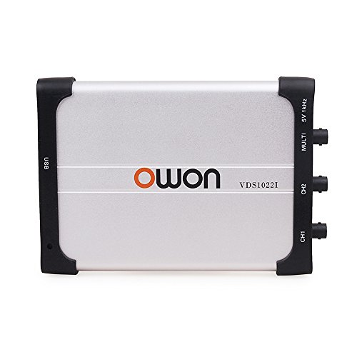 Owon VDS1022I virtual dual-channel oscilloscope bandwidth of 25Mhz USB 100MS/S sample rate USB isolation ()