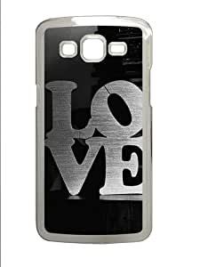 Samsung Grand 7106 Cases & Covers -Love Black And White PC Hard Plastic Case for Samsung Grand 2/7106 Transparent