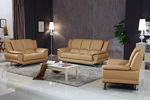 Matisse Milano Leather Sofa Set (Coffee) ()