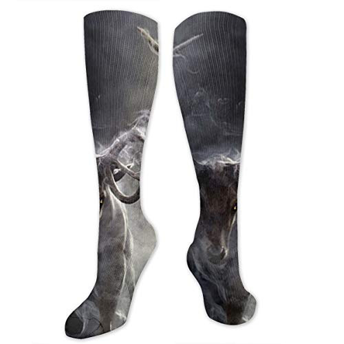 Compression Socks Cloud Animal Deer Soccer Sports Knee High Tube Socks For Women And Men