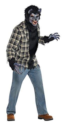 Amscan 844986 Adult Rabid Werewolf Costume Plus Size, Black