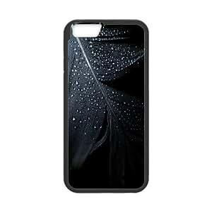 IPhone 6 Plus Cases, Raindrops On Dark Feather Elegant Cases For IPhone 6 Plus {Black}