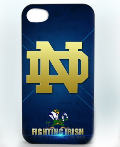 new arrival e5b29 5badf Amazon.com: Irish University Notre Dame Fighting iPhone 5 Hard Case ...