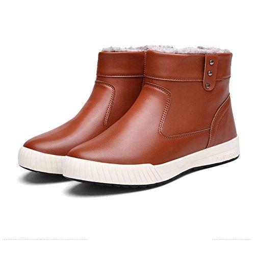 Sneakers Waterproof Snow High Brown Shoes Eagsouni® Men's Lining Boots Fur Top Warm fqw5K6Cv