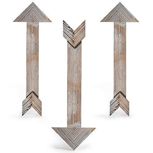 CALIFORNIA CADE ELECTRONIC Rustic Wall Decor-Farmhouse Decor-Home Decor Arrow Barnwood Decorative Arrows Barn Wood Decorative Signs-Decoration for Room or Wedding(3, 5.9 x 17.5 inches)