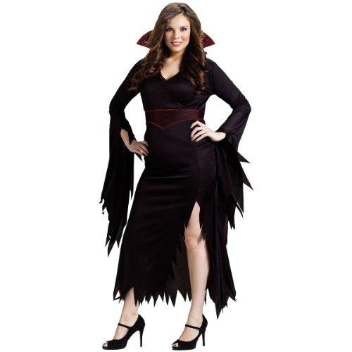Gothic Vampiress Costume (Classy Vamp Adult Costume - Plus Size 1X/2X)