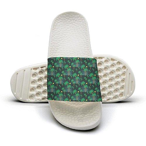 Ina Fers.Slide Sandals For Women Summer Beach Green Palm Tree Indoor/Bath Slipper Anti-Slip House Sandal -