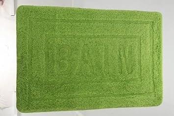 Tapis salle de bain Vert anis 90x60cm: Amazon.fr: Cuisine & Maison