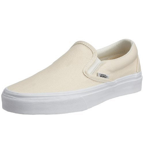 Vans - Mens Classic Slip On Shoes, White, 5