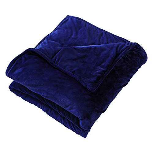Premium Quality Soft Minky Blue Sensory Weighted Blanket - 12 Lb 48Wx72L, 4ftx6ft - For Women, Men, Adults, Children, Autism - Reduces Anxiety, Stress - Promotes Restful Sleep, Machine Wash and Dry by J&M