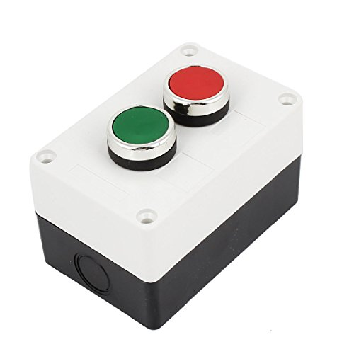 Dual Station Control (AC660V 10A Momentary Dual Button Pushbutton Station Switch Control Box)
