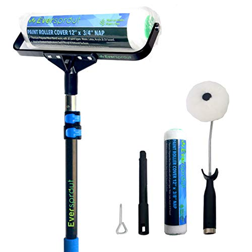 EVERSPROUT 5-to-13 Foot Paint Roller Kit and Extension Pole (20 Ft. Reach) | 12