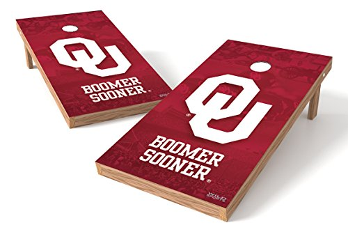 Wild Sports NCAA College Oklahoma Sooners 2' x 4' Authentic Cornhole Game Set