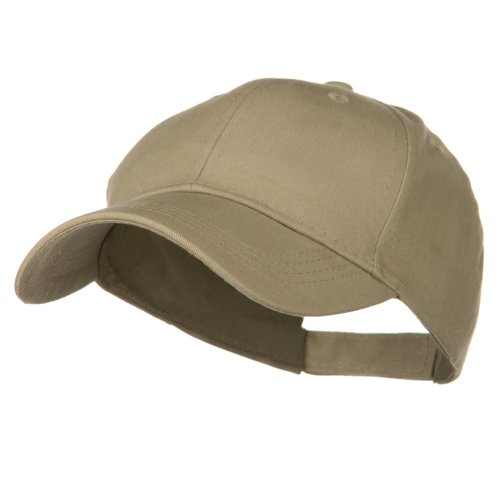 Youth Brushed Cotton Twill Low Profile Cap - Khaki OSFM
