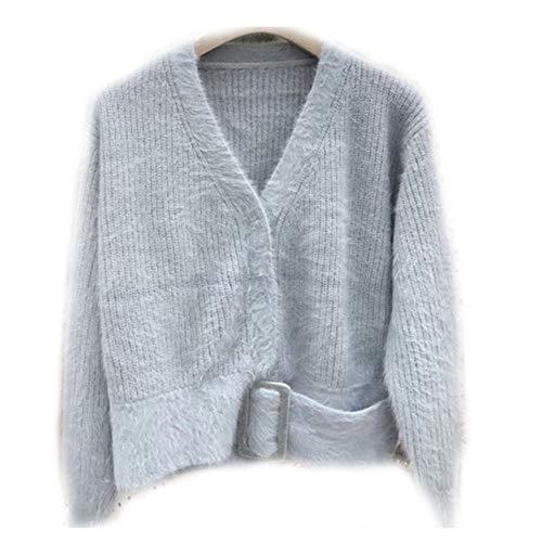 Zuoluo Gray Moda Donna Maglione Girocollo rnzHqrRU