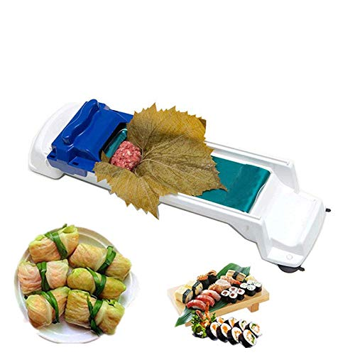 (Sushi Rolling Machine Plastic Vegetable Meat Rolling Tool Stuffed Grape & Cabbage Leaves Rolling Machine)