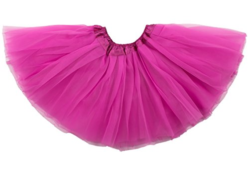 Dance Costumes Tweens (Dancina Tutu Big Girls Tweens Fancy Dress Up Prom Dance Costume Tulle Petticoat 8-13 years Hot Pink)