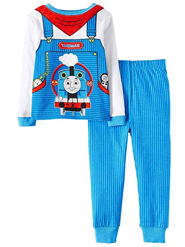 Thomas & Friends  AME Thomas The Train Little Boys Toddler Cotton Pajama Set,Blue ,2T  - Thomas Conductor Train