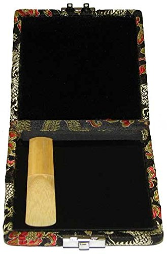 Tenor Saxophone - Bass Clarinet Reed Case 4-Reed Red-Black Silk