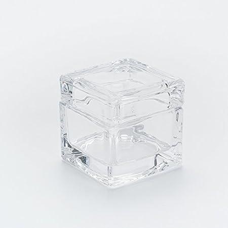 Caja cubo Cristal 5 x 5 x 5 cm 1pz: Amazon.es: Hogar