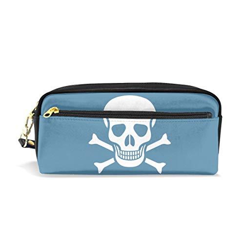 (Crossbone Skull Head Big Capacity Storage Durable Hand Travel Small Makeup Bag)