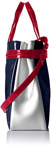 Armani Jeans Tasche Henkeltasche Shopper Bag 922548 blau-weiß, 40 X 11 X 27