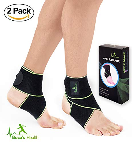 Ankle Brace for Women and Men – Adjustable One Size Fits all – Comfortable and Elastic Material Breathable – Ankle Wrap for Sports – Protect Against Chronic – Stabilizing Ligaments – Injury Recovery