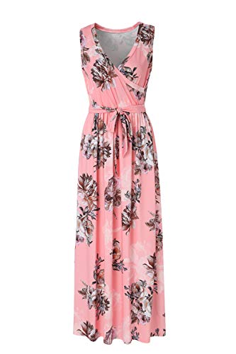 BEAUTIFUL-LIFE Summer Dresses Summer Dresses for Women Maxi Dresses Maxi Dresses (Small, Pink)