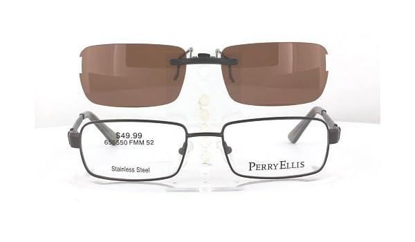 f1a88eea74 Amazon.com  PERRY-ELLIS PE313-1-52X17 POLARIZED CLIP-ON SUNGLASSES (Frame  NOT Included)  Health   Personal Care