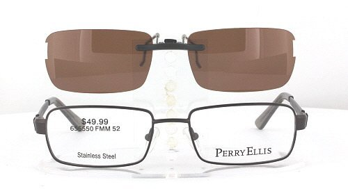 amazoncom perryellis pe313152x17 polarized clipon sunglasses frame not included health u0026 personal care