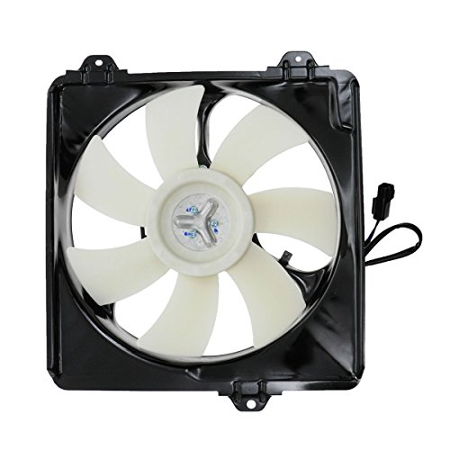 Passenger RH Right Side A/C Condenser Cooling Fan Assembly for 01-05 Toyota ()