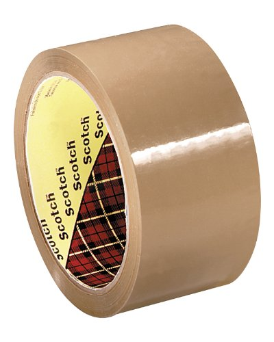 Scotch Box Sealing Tape 371 Tan, 72 mm x 50 m, Performance, Conveniently Packaged (Pack of 6)