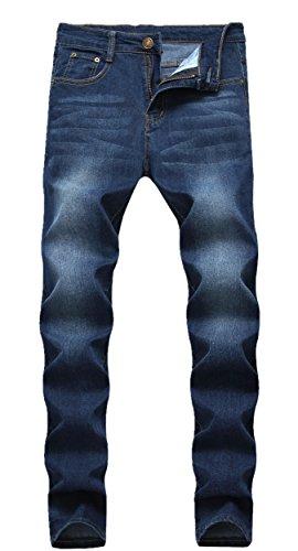 FREDD MARSHALL Men's Skinny Slim Fit Stretch Straight Leg Fashion Denim Jeans,Blue,W38x32L (Fashion Jeans Blue)