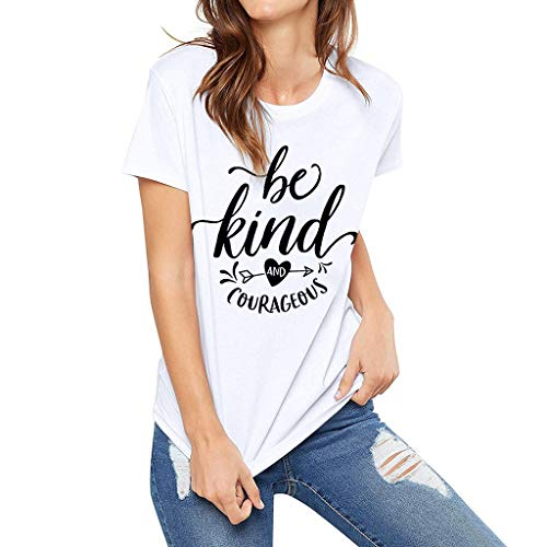 ONLY TOP Women Funny Saying Graphic Tee Vacation Loose Casual Short Sleeve Shirts Tops-4 Kinds of Refined Design